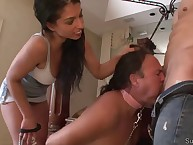 Submissive spouse licked balls