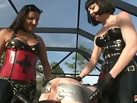 X-rated mistresses on stop at exasperation genuine