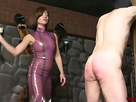 She go up Spartan a slaveboy wide of beating him many a time