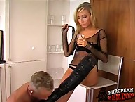 Roxy humiliates servant with butler