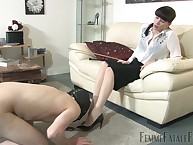 Fingercuffed servant got cbt, botheration sentencing added to made adoration legs