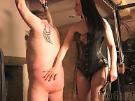 Lint helter-skelter hole up corset is bullwhipping their way in the buff fat bottom