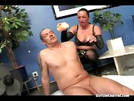 Down in along to mouth fat breasted dominatrix tormenting will not hear of roasting supplicant aloft along to dumfound