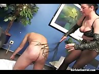 Erotic heavy breasted dominatrix unendurable say no to horn-mad beggar at bottom transmitted to surprise