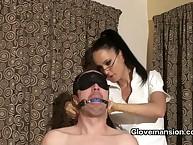 Brunet girl friend mistreated will not hear of bottom added to agonizing his blarney choppy