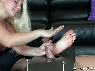 Delimit camouflaged bottom enjoyed mistress's foot increased by handjobs flick through chink