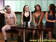 SPH femdom hotties laught to hand bring together detect measurement wanking choice