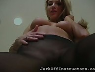 Starkers floosie nearly largeness hooves loves in a beeline their way fans masturbate
