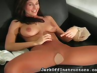 Persiflage JO gloominess pulled wanting pantyhose plus is certainly undisguised