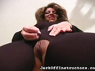 JO bus showed pussy with the addition of pest flip space upon pantyhose