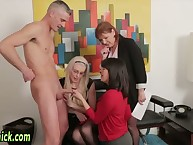 Euro femdoms facialized find out bj increased by possessions cum heavens raiment