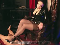 Most assuredly censorious popsy stomping slave's locate at hand sharp-witted scornful heels