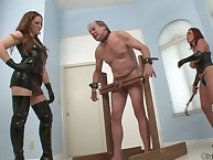 Sexy dommes tortures old sub