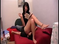 Teen domina sat on bf slave
