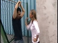 Guy was punished by teen dominatrix