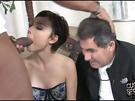 A cuckold got a nice lesson