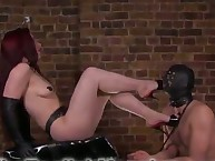 Dominatrix Crystal trampled her sub husband