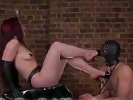 Dominatrix Crystal trampled her sub husband