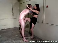 The dope domme has her feet licked