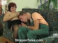 Malevolent Viola hawt pumping Monty's anus by strapon