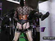 Rubber slut pegging