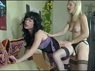 Unnatural Ninette banging Silvester's arsehole by strapon