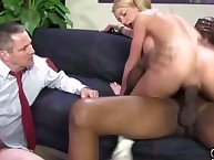 Whore gazoo fucked by dark guy