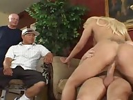 Blonde wife experiences real floozy hardcore fuck!
