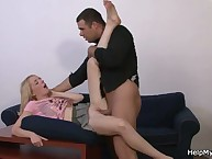 Young blonde Wife Needs a help Of a beefy Cock!