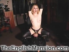 Sadistic mistress fucked her subby's tight asshole with strapon