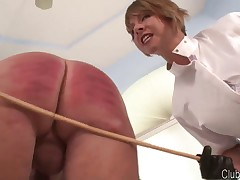 Brianna spanked, caned and humiliated man