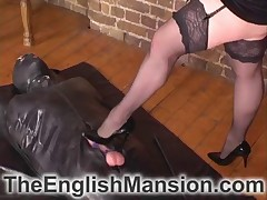 Chubby slut was trampling man