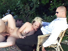 Kinky hubby lets his wife to be drilled rough