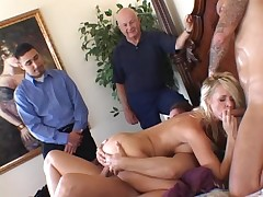 Crazy wife decided to fuck 3 knobs animal training the same time