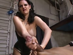 Hot babe with her sub in perverted femdom porn