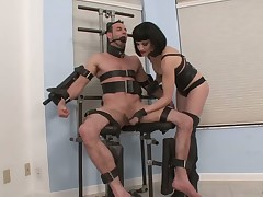 domina likes smoking and abusing her sub man