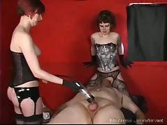 Mistresses were punishing their sex slave