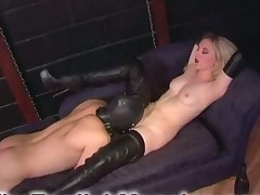 Blond Dominatrix was licked well by her slave