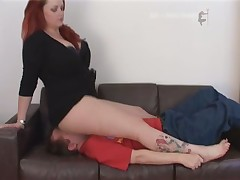 Red-haired MILF is smothering her subby