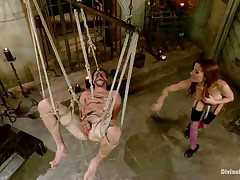 Nauseous dick bondage and facesitting