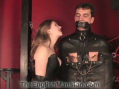 Terrible cbt action for a bound sub