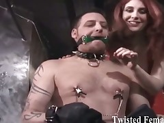 Hard games between sexy dominas and abused slaves