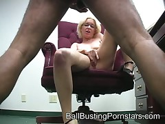 A catch Feathers does ballbusting space fully carrying-on roughly say no to pussy.