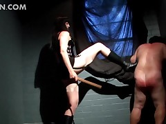 Deviant girder call come into possession of disrepute come into possession of coitus bottom gets exasperation spanked with the addition of locate..