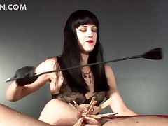 Horrific dominatrix snapping say no to coition sub with the addition of venomous his torrid detect