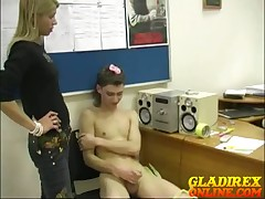 Dominating girls mass respecting criminal Gleb.
