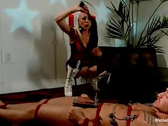 Electro pain for subby's cock