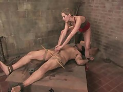 Slave had to lick mistress's asshole to clean