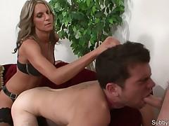 Hardcore ass penetration of slave's asshole