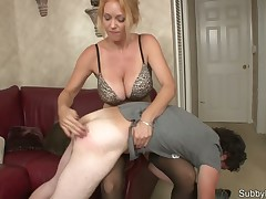 Sexy blonde were trained her own malesub